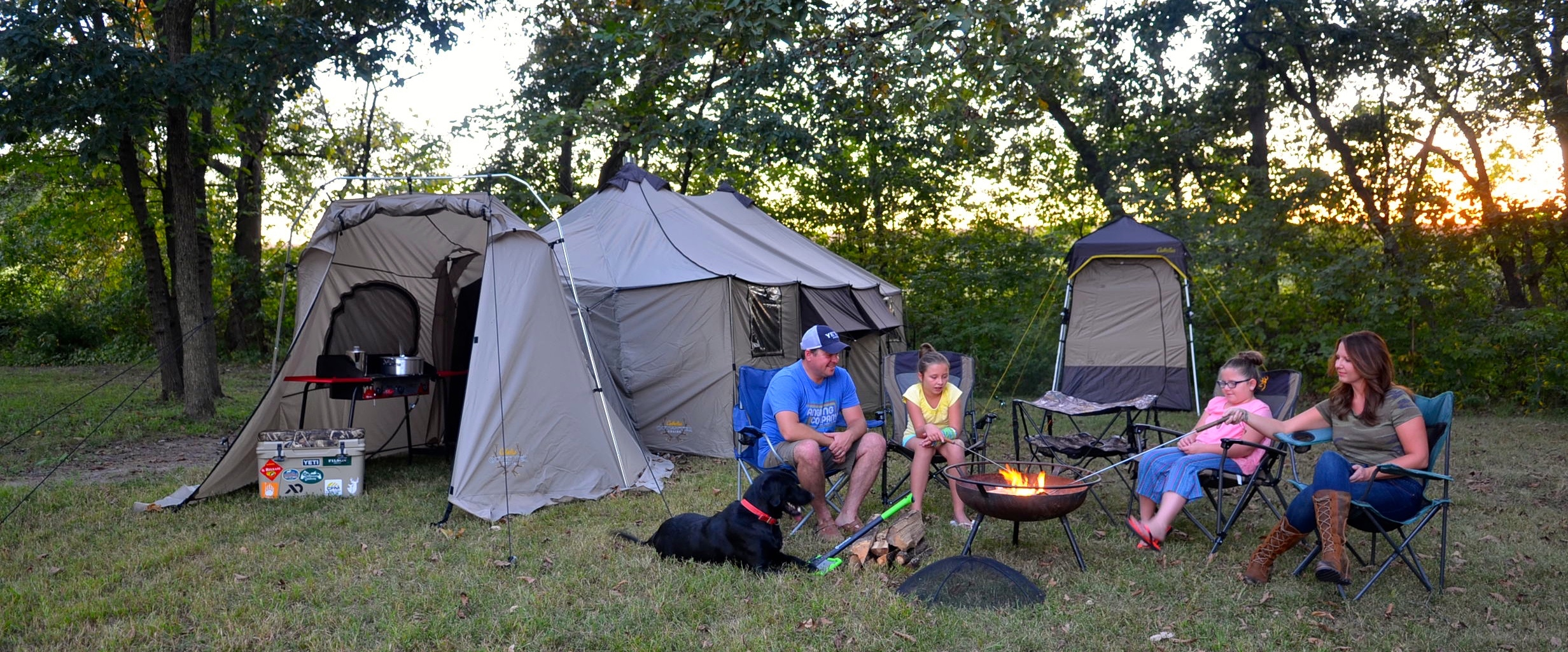 C& FI & Giant Tent Serves as Season Long Basecamp | Conservation ...